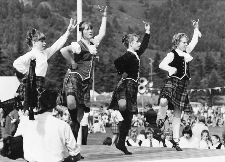 Ballater Games 1971- Dancers in the Open Highland Fling
