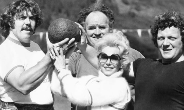 Eva Gabor brought Hollywood glamour to Ballater Highland Games as a guest celebrity in 1978.