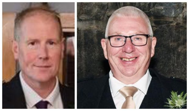 Train driver, Brett McCullough (left) and Donald Dinnie (right) died following the derailment.