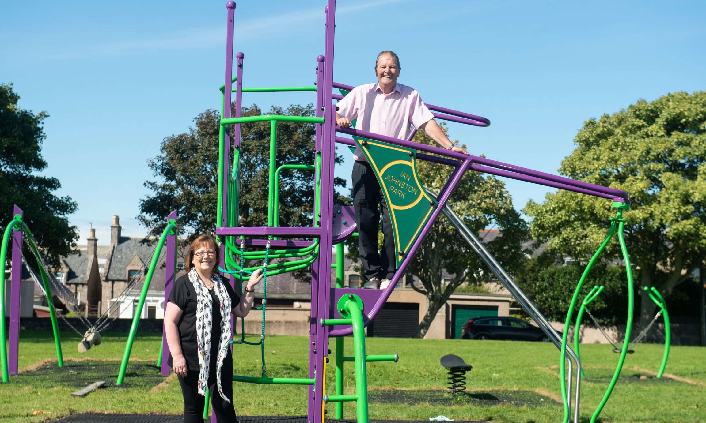 Buckie councillors Gordon Cowie and Sonya Warren. Picture by Jason Hedges.