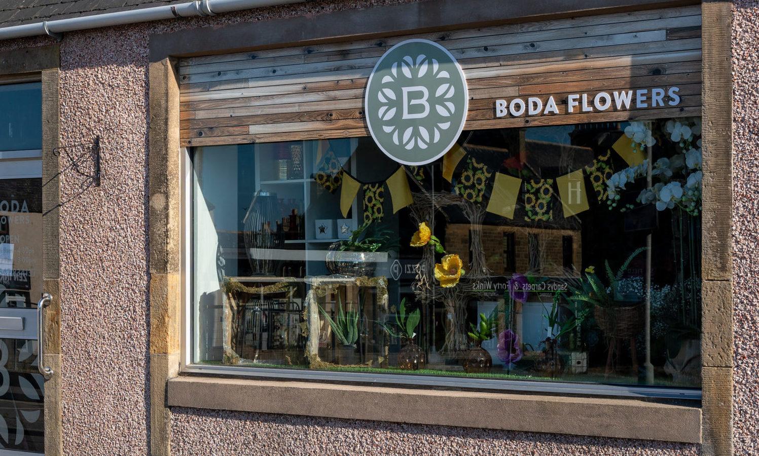 Boda Flowers in Buckie.
