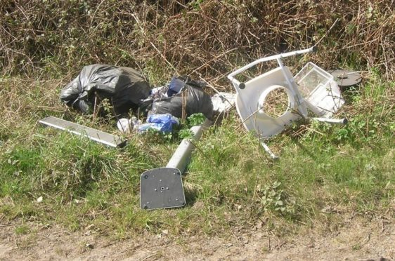Reports of fly-tipping across Aberdeenshire have increased dramatically this year.