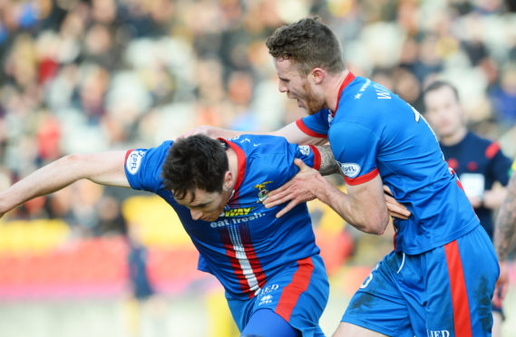 Greg Tansey and Marley Watkins during their time at Caley Thistle
