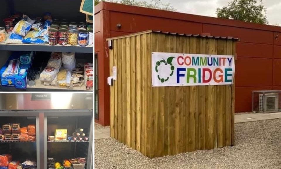 Dingwall Community Fridge is located adjacent to the local community centre.