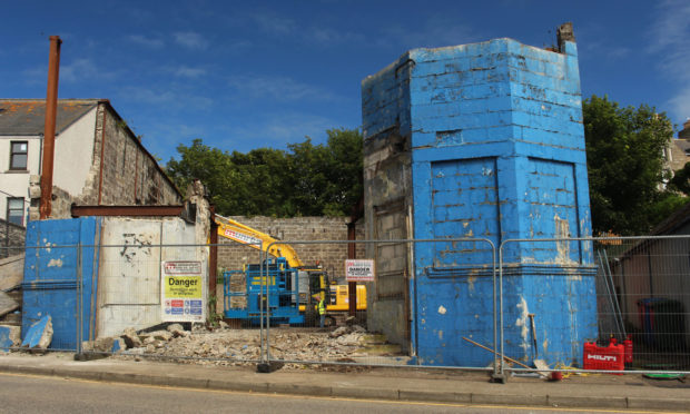 Demolition works have begun at the property on 30 High Street, Wick.