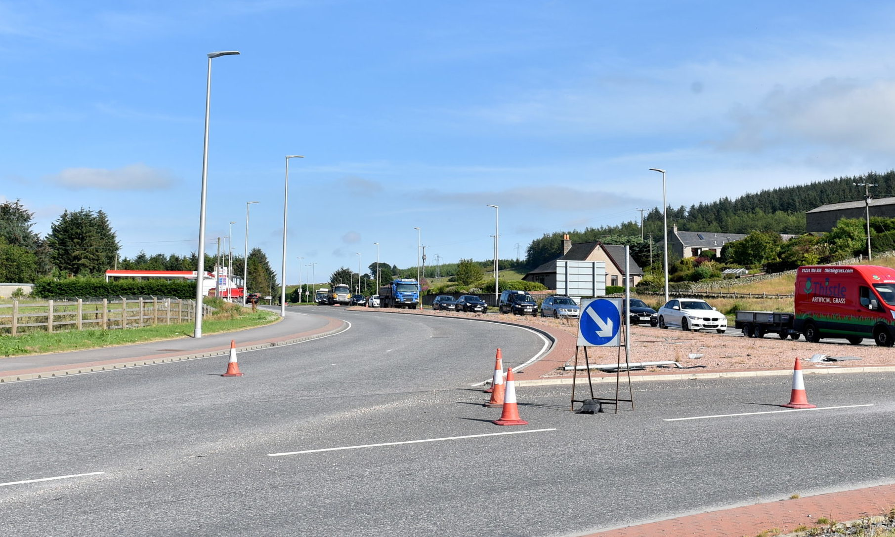 The Westhill / Kingswells roundabout connecting to the AWPR