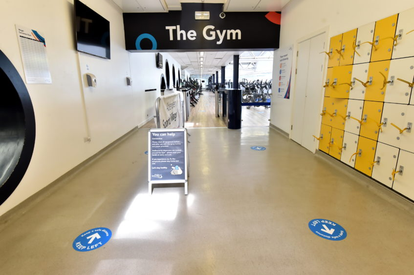 Aberdeen Sports Village, new safety measures ahead of reopening.  Picture by Kenny Elrick     28/08/2020