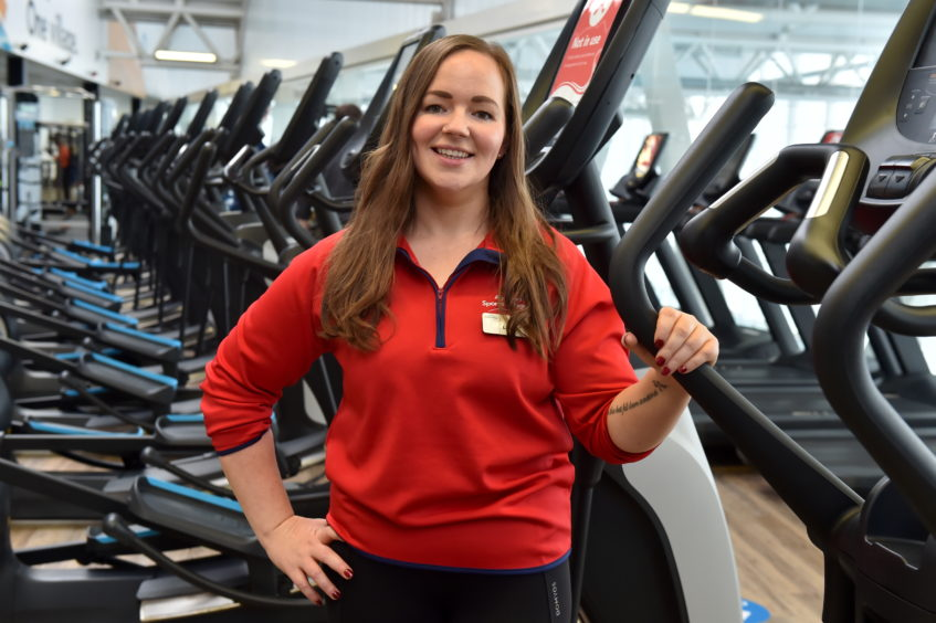 Picture of Lisa Vass, an Aberdeen Sports Village employee.   Picture by Kenny Elrick     28/08/2020