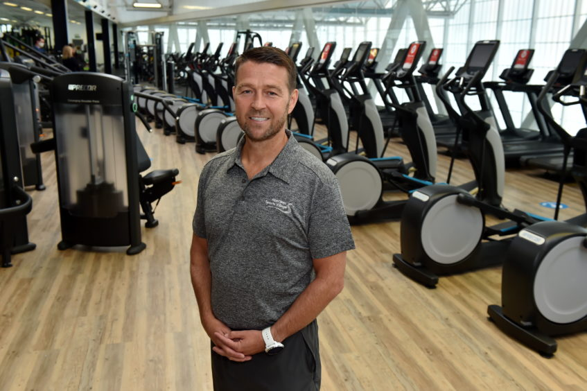 Picture of Duncan Sinclair, chief executive of Aberdeen Sports Village.   Picture by Kenny Elrick     28/08/2020