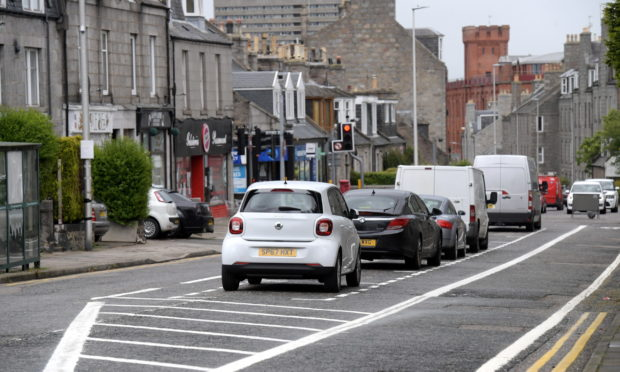 The road layout on Rosemount Place, around Richmond Street area.  Picture by Kath Flannery.