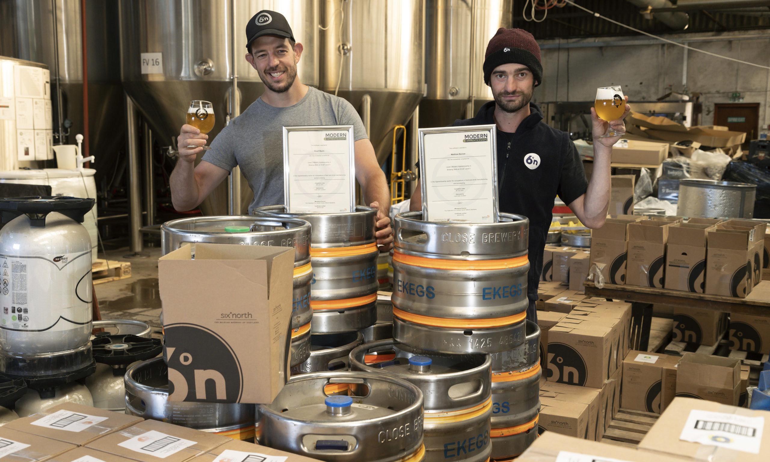 Pictured from left, Stuart Byers & Matthew Bennett from Six Degrees North Brewery