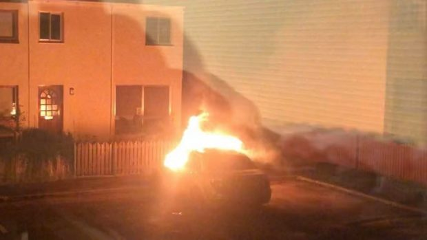 One local resident was awoken by the blaze