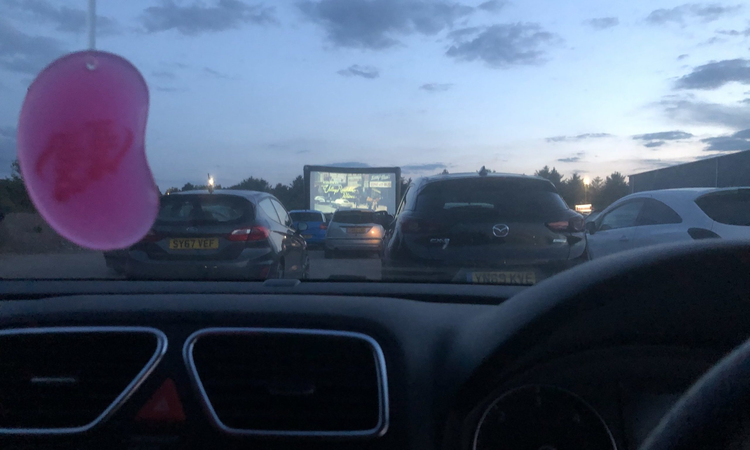 Scores gathered over the course of the weekend to sample the drive in cinema at Caledonian Stadium