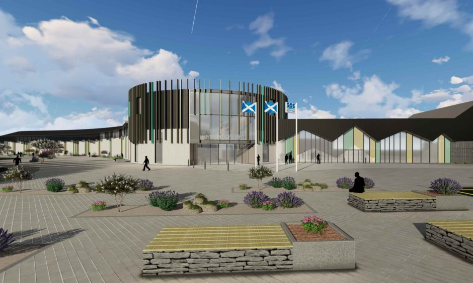 An artist's impression of how the new prison could look.
