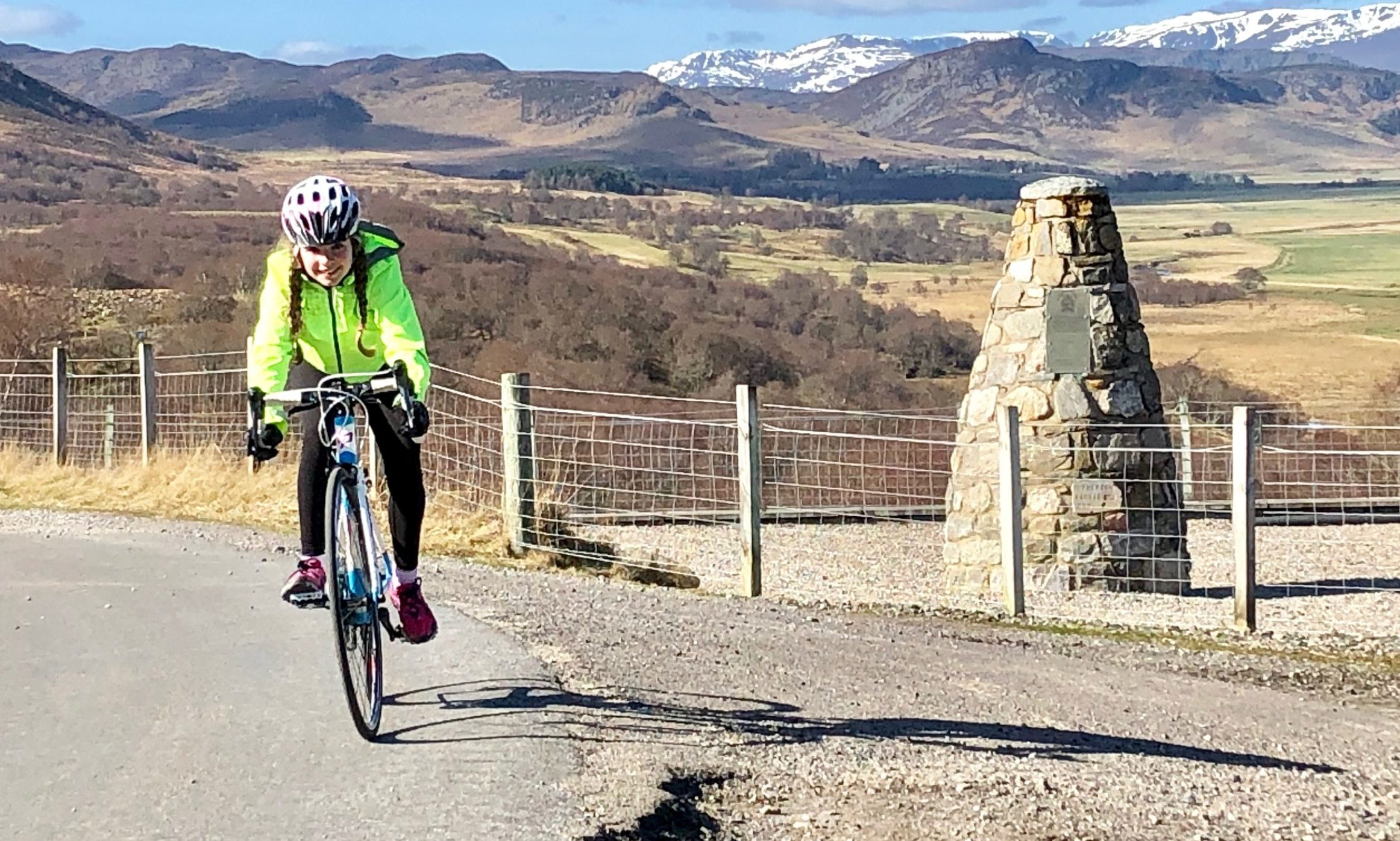 Isla Easto aims to complete the coast-to-coast cycle from Ardnamurchan to Cruden Bay.