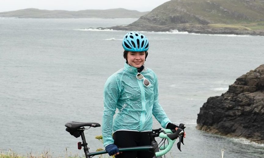 13-year-old Isla Easto completed the 259 mile journey in memory of her grandfather.
