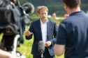 Grant Shapps, secretary of state for Transport talks to the press following his visit to the scene of the accident. Picture by Kim Cessford