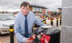 Councillor Ken Gowans at Inshes Retail park, Inverness.