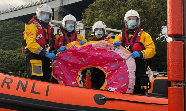 The RNLI crew at Kessock with the inflatable doughnut