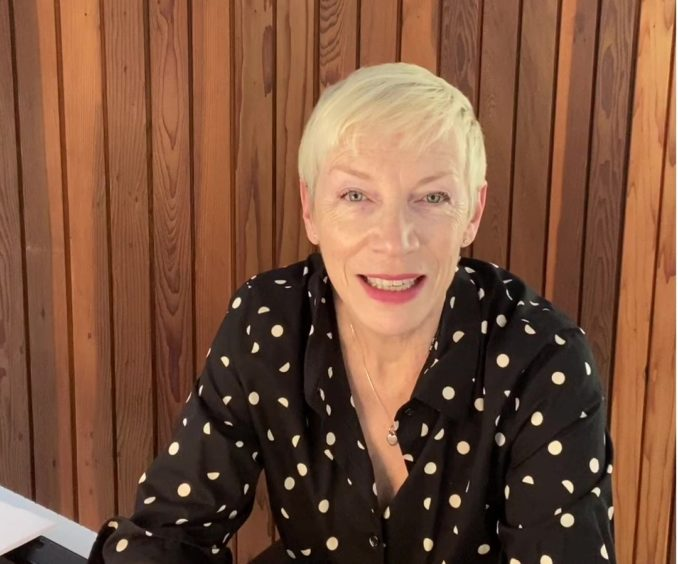 Annie Lennox dedicated her performance to Sue Ryder staff at Dee View Court.
