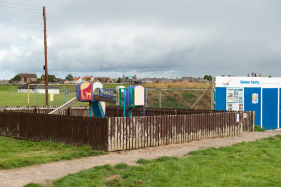 The playpark next to the community centre and Lossie High School on Coulardbank Road is being revamped by community volunteers.