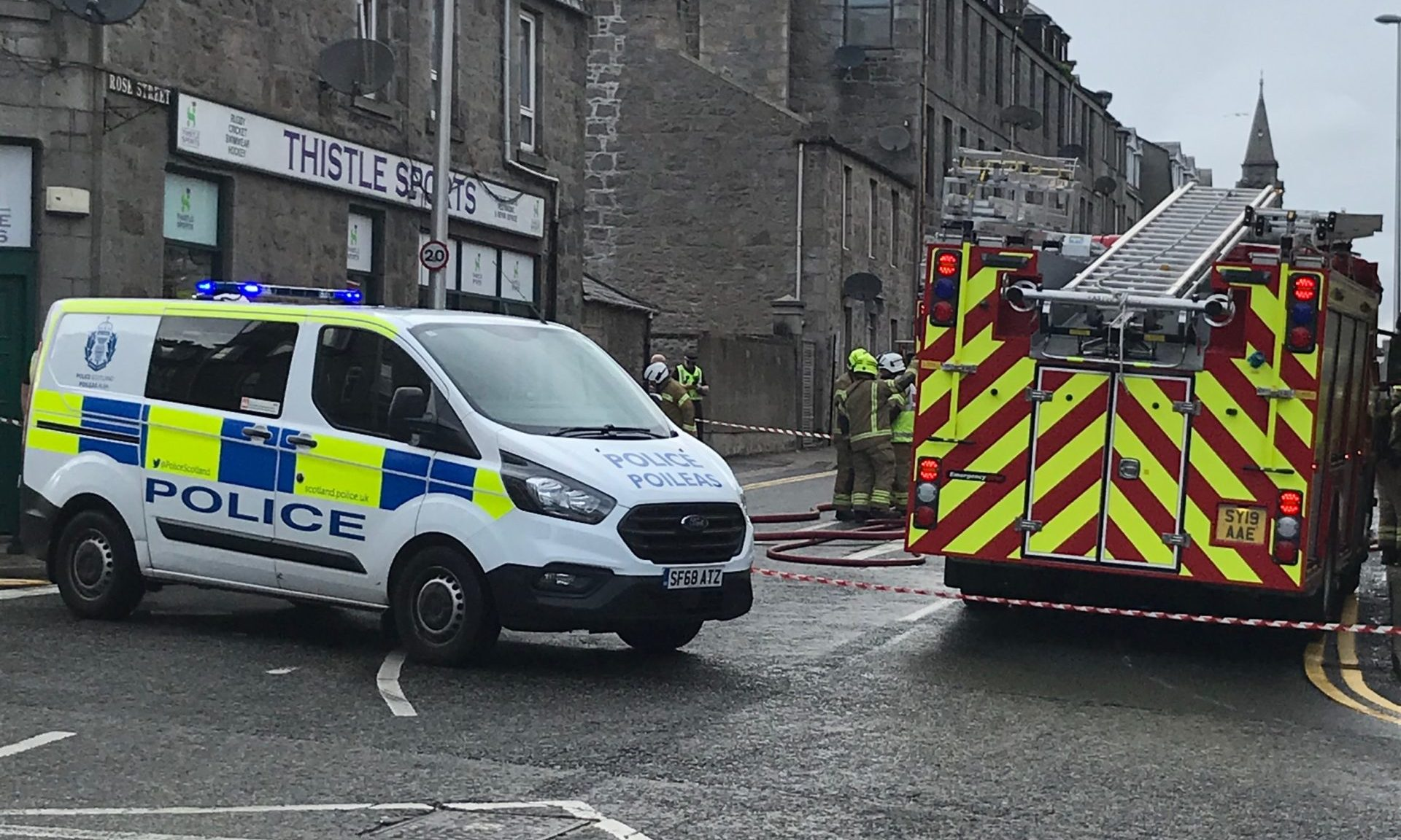 Police and the fire service attended the scene. Picture by David Walker
