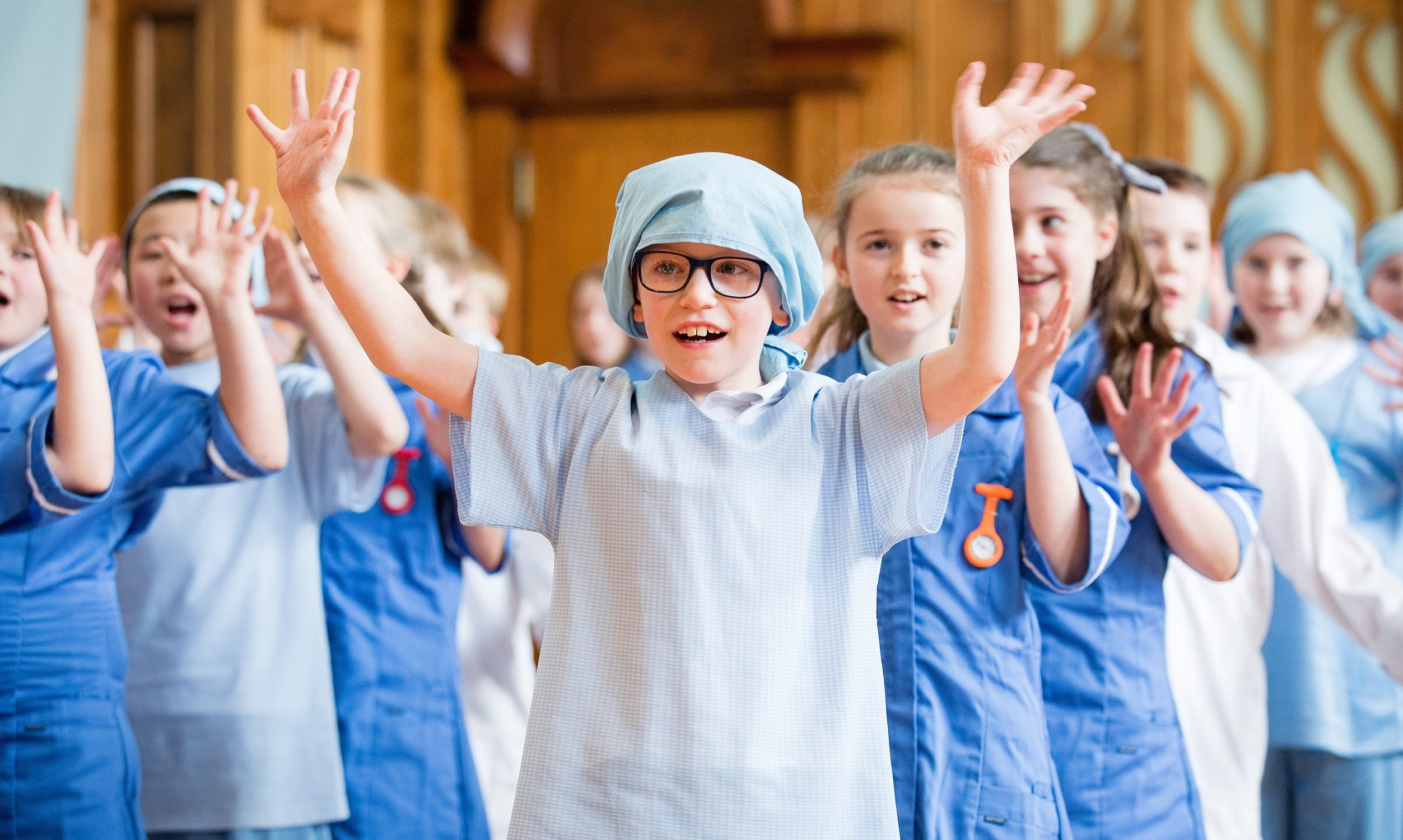 Youngsters taking part in the Fever! schools tour. Picture by Sally Jubb.