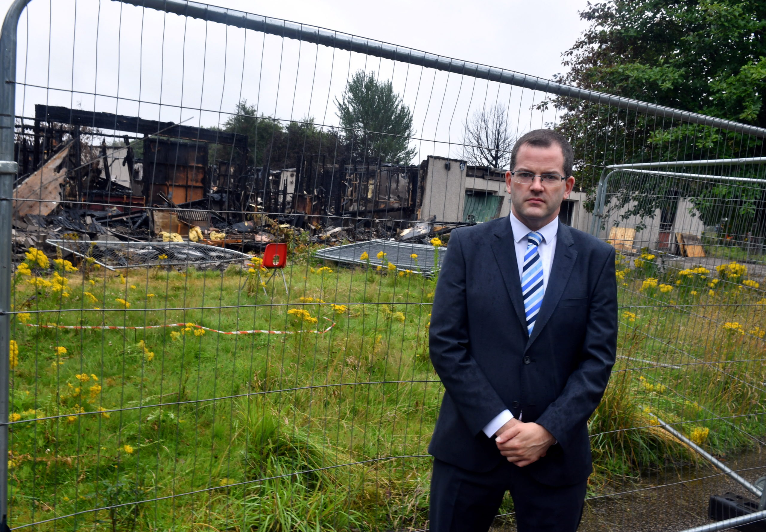 Mark McDonald MSP is hitting out at how long the Cordyce School (which was destroyed by a fire in 2017) took to be redeveloped by the council. Picture by Chris Sumner