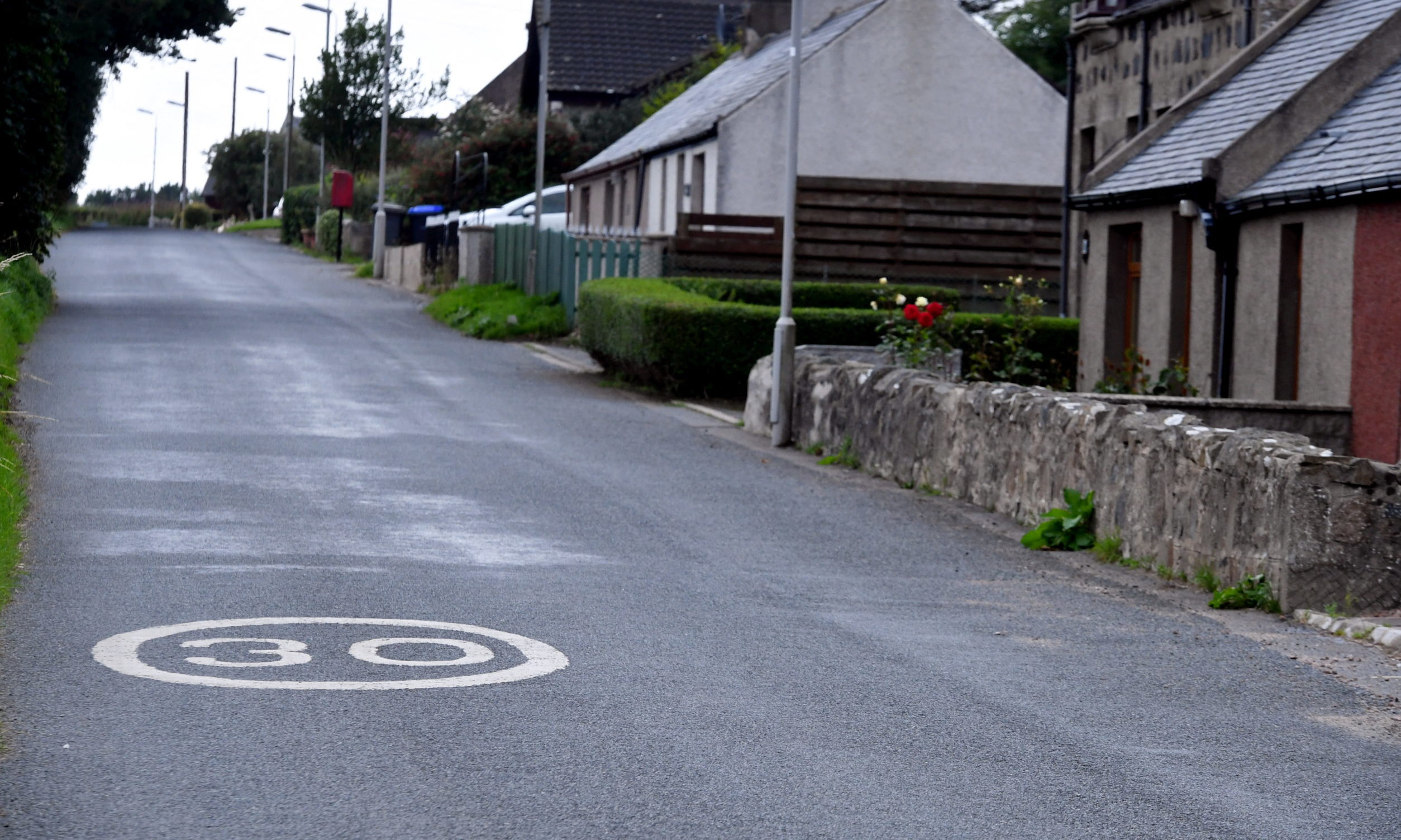 The Street in Rora is a 30mph zone but studies have found motorists pass through at an average of 43mph.