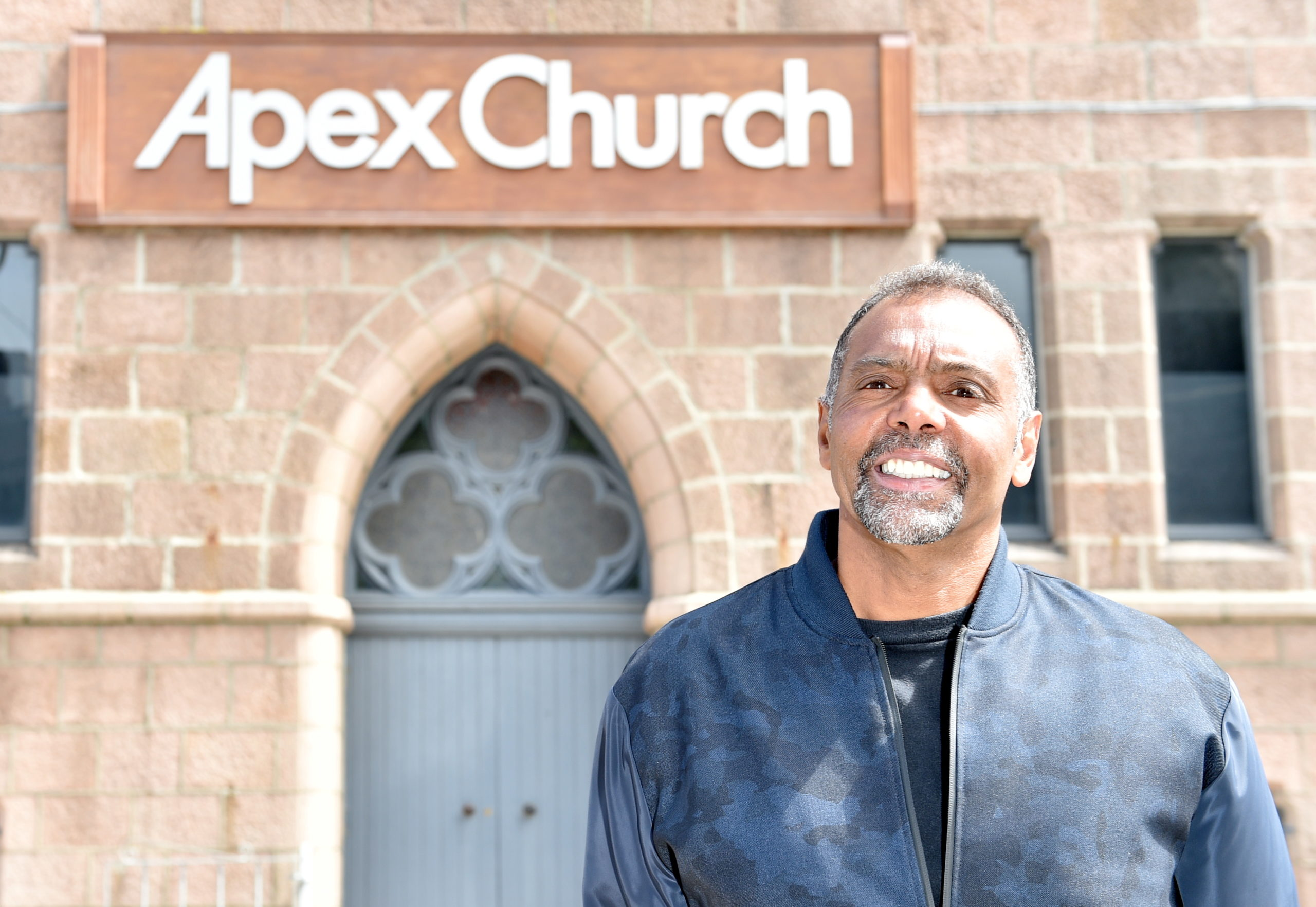 Senior Pastor Neil Cameron at Apex Church, Chapel Street, Peterhead.