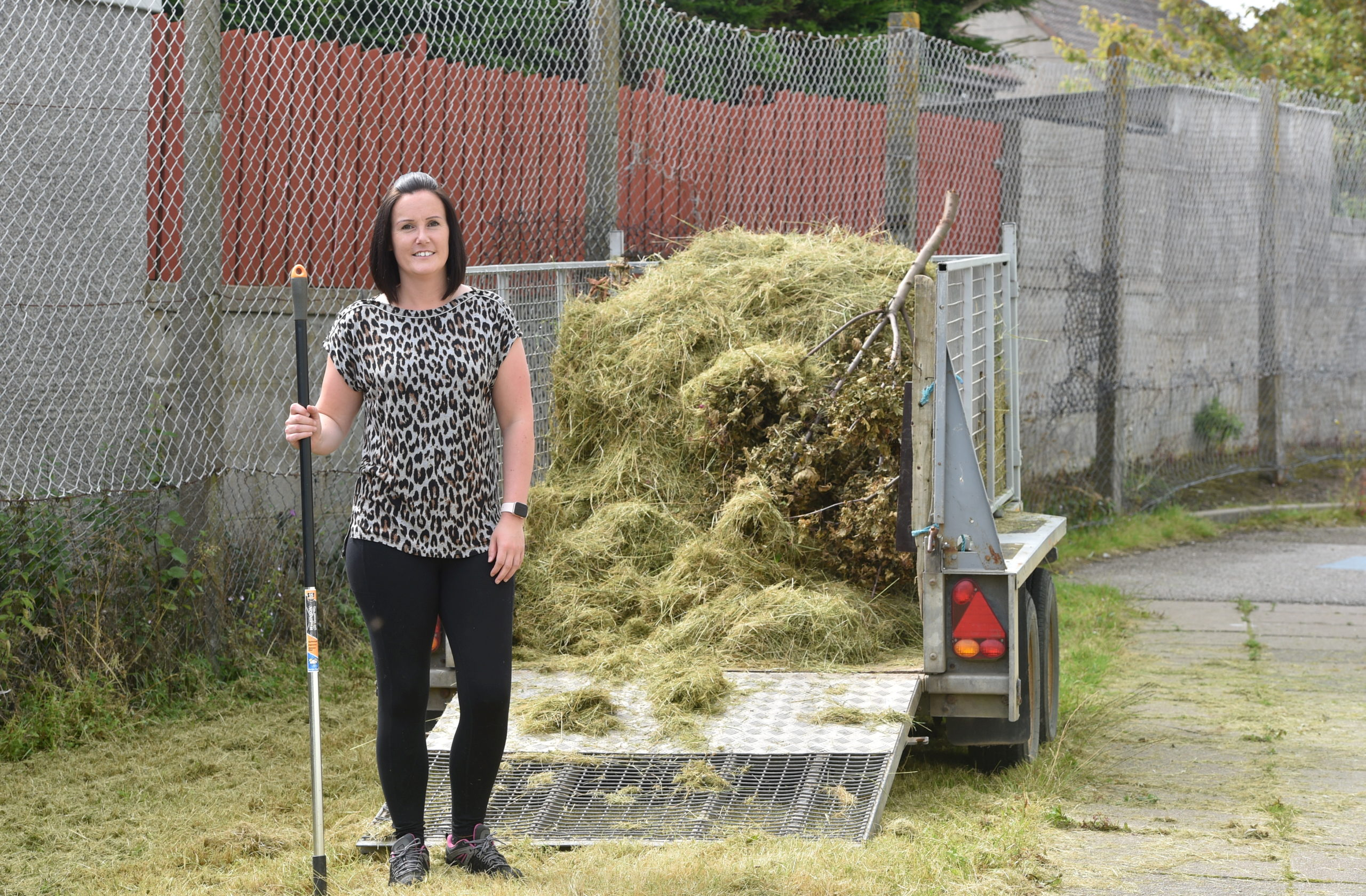 Head Teacher Carol Irvine at the gardening clean up at South Park School. Picture by Darrell Benns.