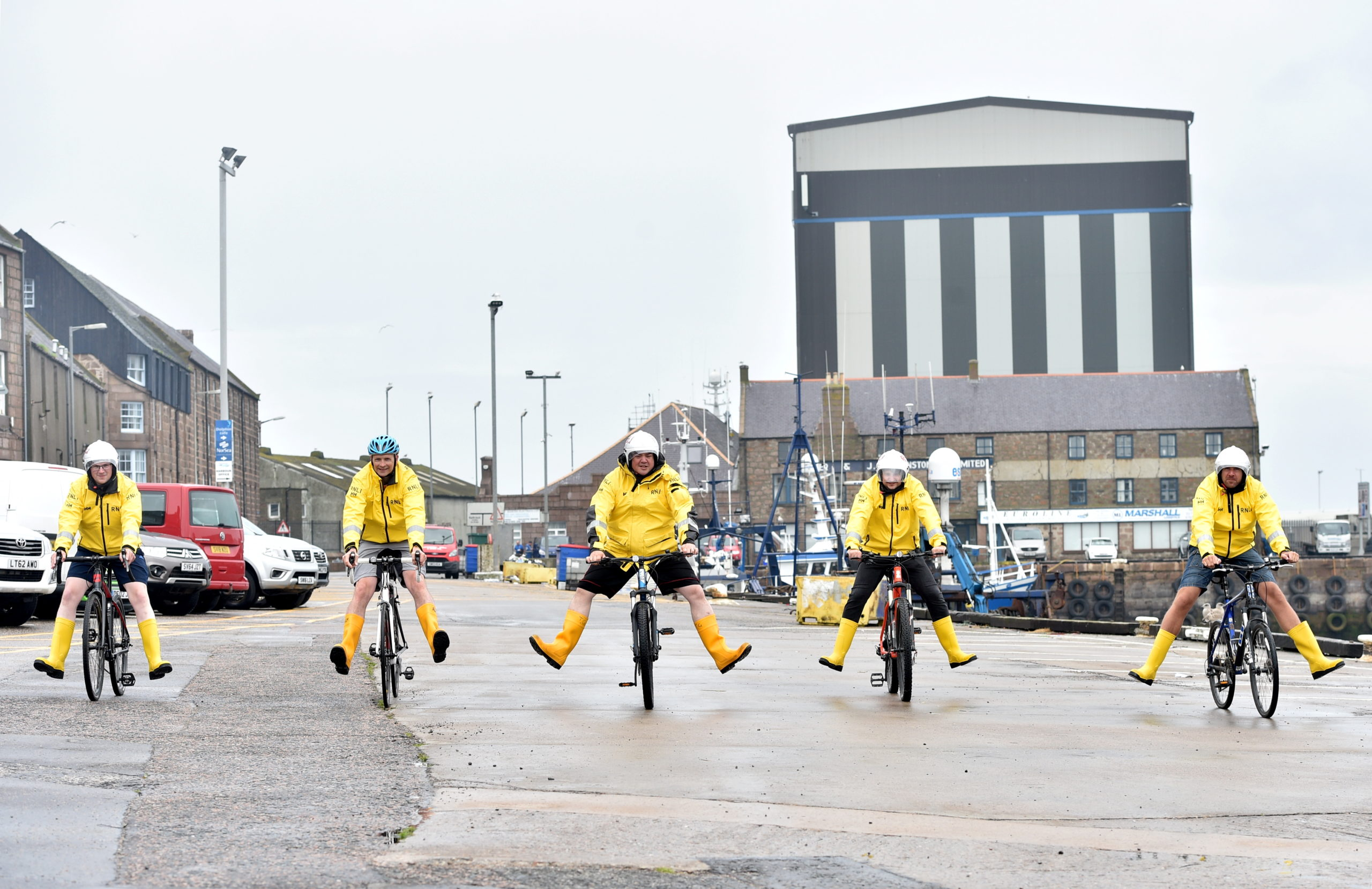 Pictured are the RNLI volunteers at Peterhead Lifeboat. Picture by DARRELL BENNS   CR0022657