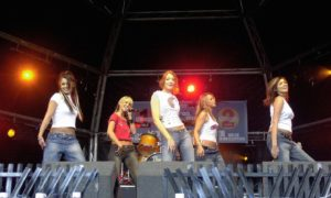 Girls Aloud thrilled Aberdeen fans when they played the popular Free At The Dee outdoor concert in Duthie Park in 2003.