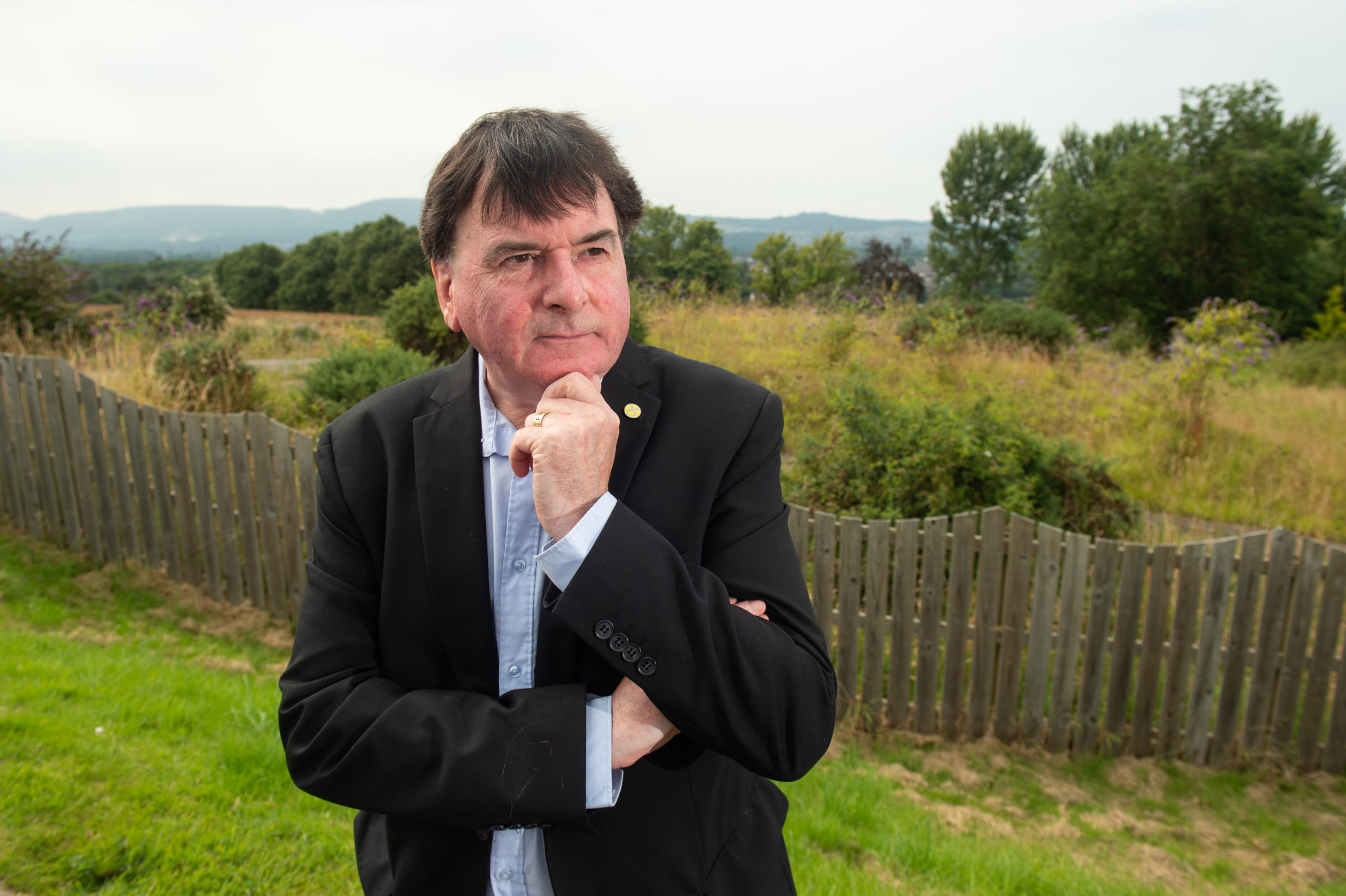 Councillor Ken Gowan at the Tulloch site at Wester Inshes, Inverness. Picture by Jason Hedges