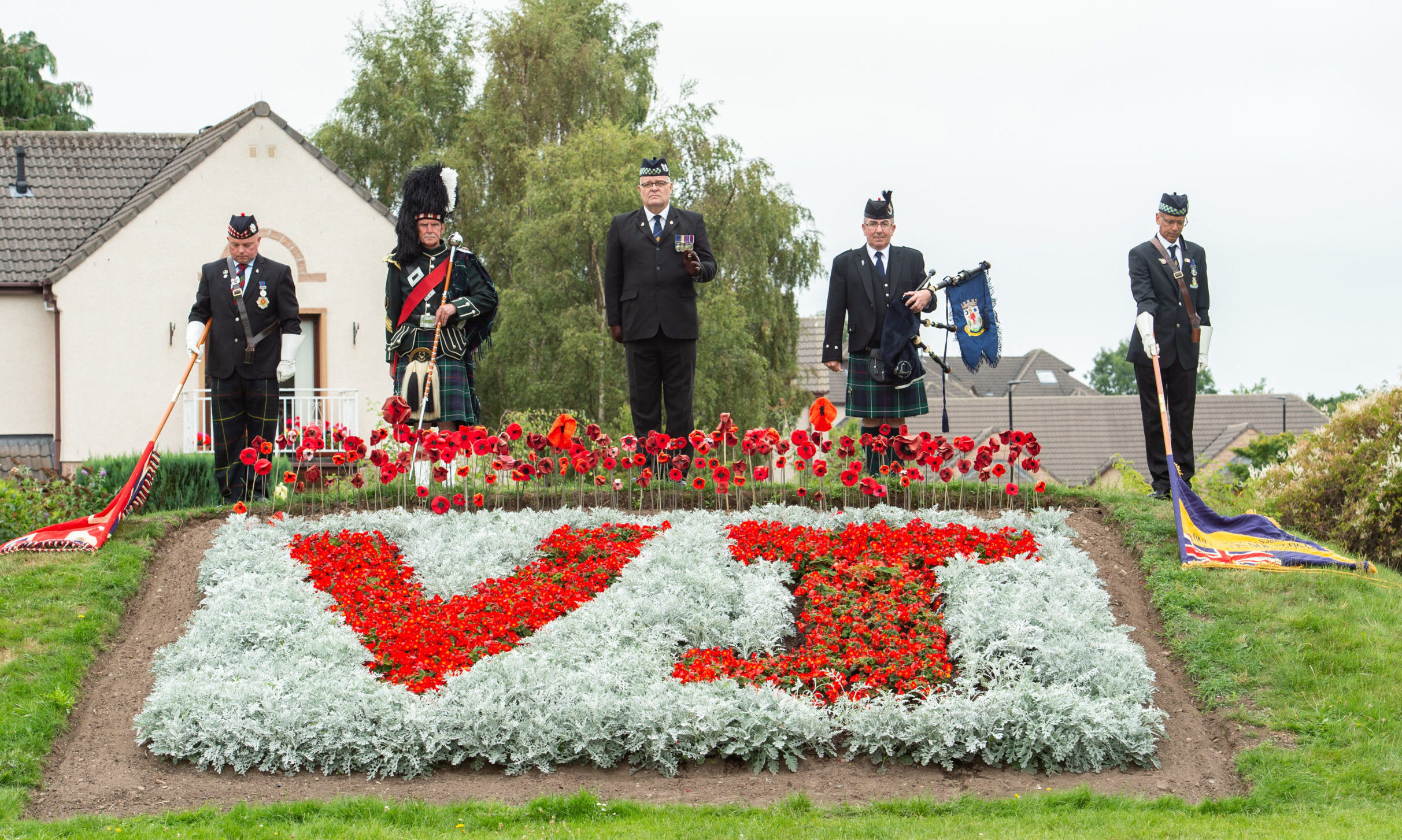 A memorial service was held in Forres to mark the 75th anniversary of VJ Day.