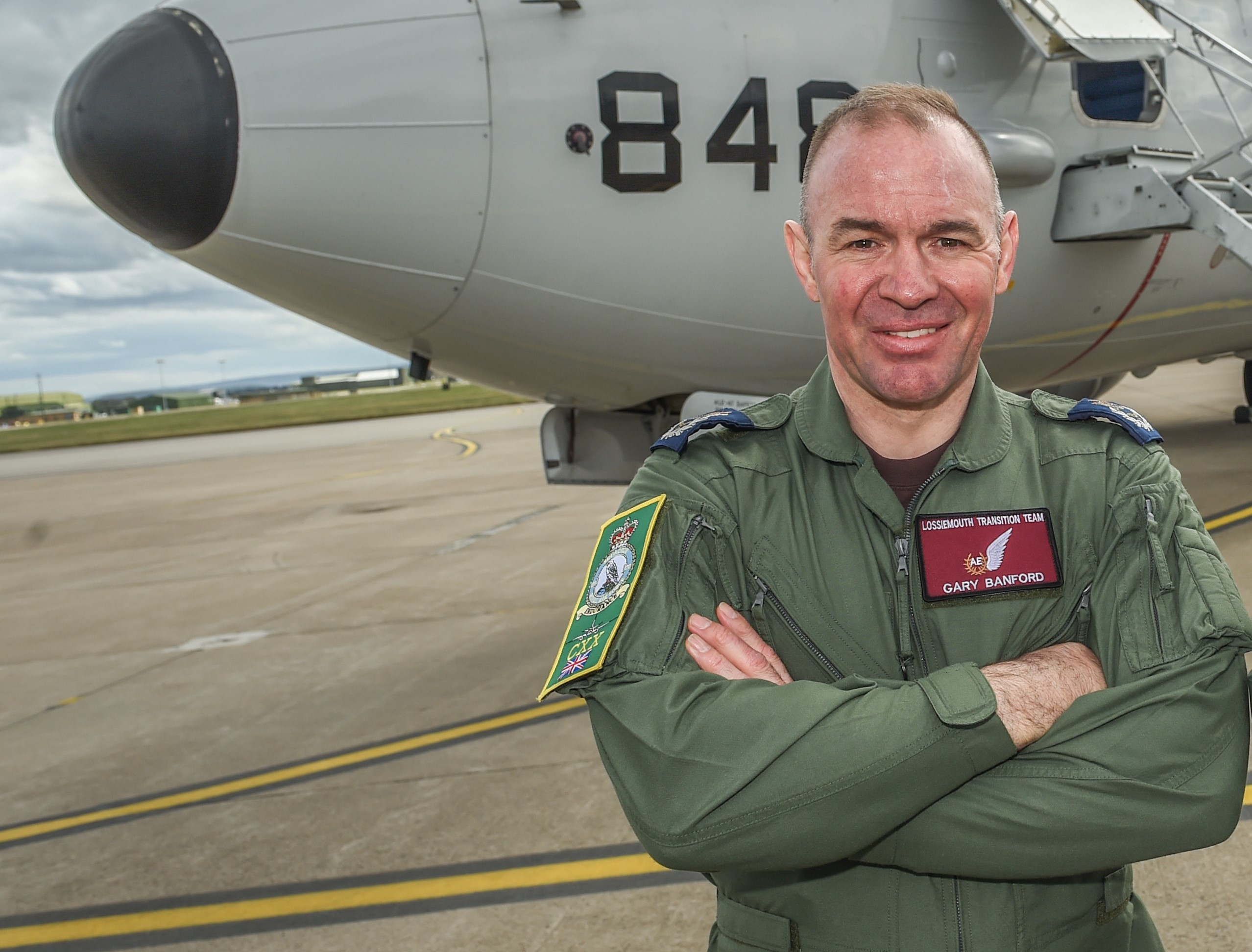 RAF Lossiemouth 120 Squadron warrant officer Gary Banford. Picture by JASON HEDGES