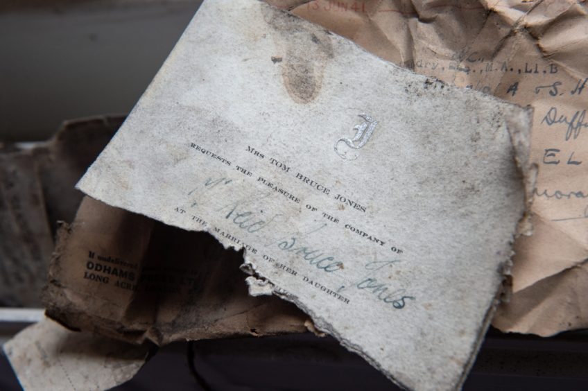 Secret messages, chocolate bar wrappers and cigarette packets were found under the floorboards.Pictures by Jason Hedges.