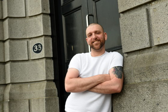 Deejay Bullock outside the new premises. Picture by Kenny Elrick