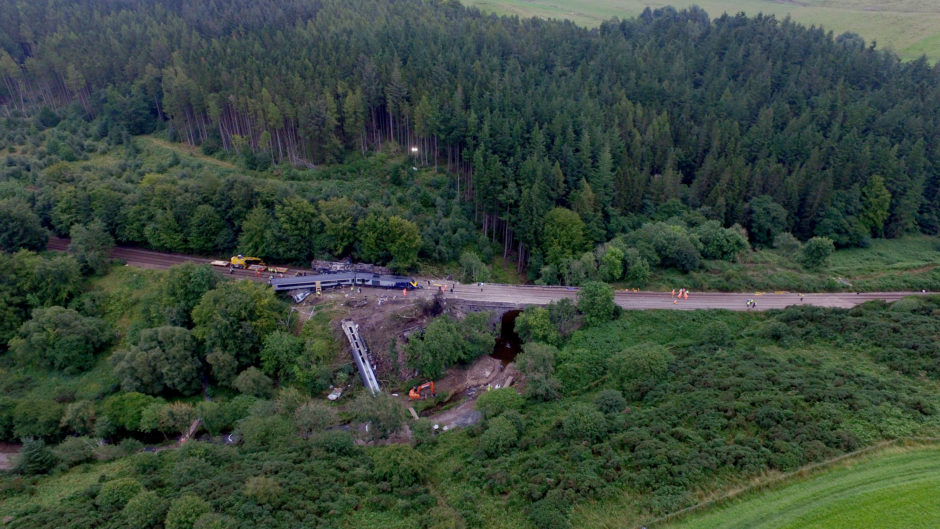 Aerial images of the scene on August 14.  Picture by Kenny Elrick