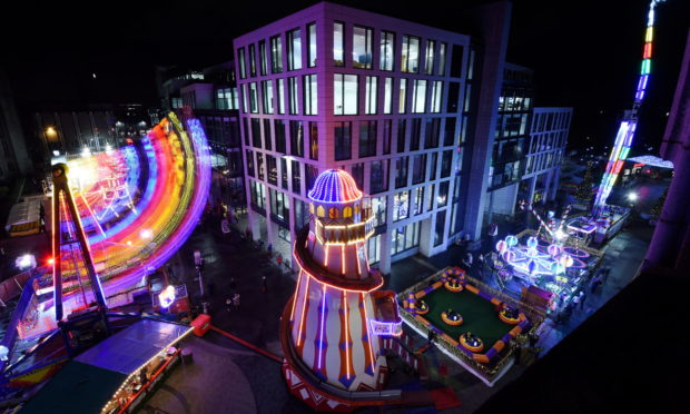 The Aberdeen Christmas Village 2019.  Picture by Kenny Elrick