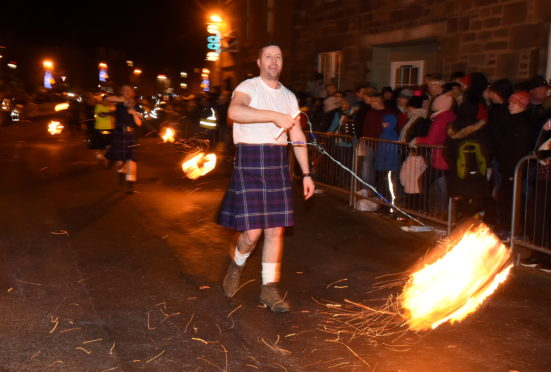 Last year's Hogmanay celebrations in Stonehaven.  Picture by KENNY ELRICK