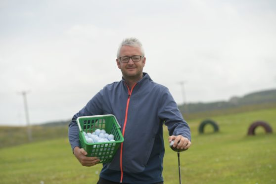 Owner of the Dunes Golf Centre in Fraserburgh, Peter Myers  wants to help the three young boys who were caught on CCTV stealing golf balls from the course. CR0022965 10/08/20 Picture by KATH FLANNERY