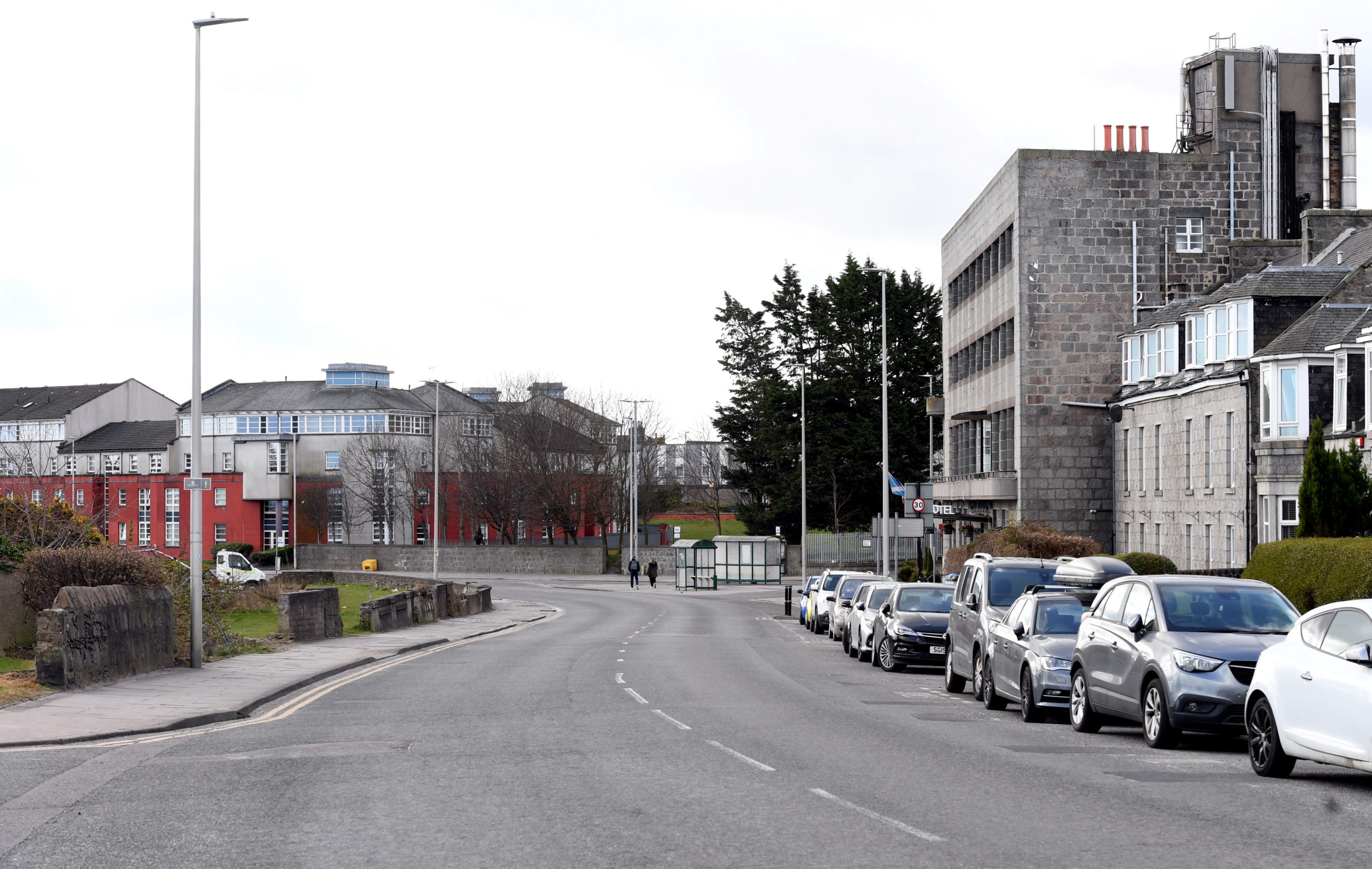 Great Northern Road near its junction with Clifton Road, where the proposed new road crosses.   Picture by Kami Thomson.