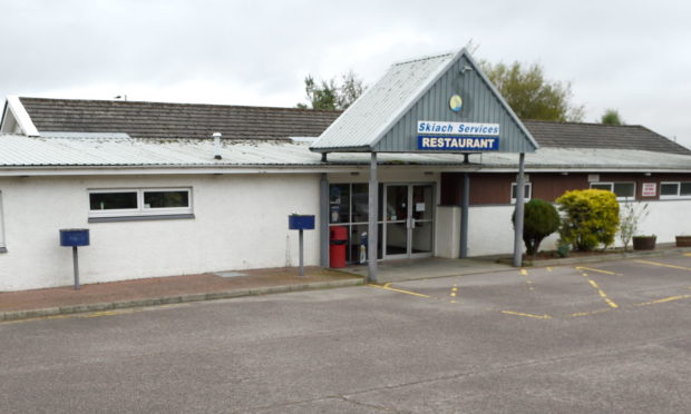 The restaurant at Skiach Services  close to the A9 near Evanton. Picture by Sandy McCook