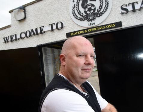 Ian Finlayson, Nairn County club secretary, at Station Park