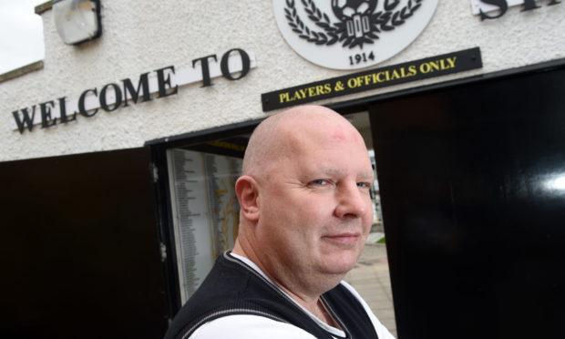 Ian Finlayson, Nairn County club secretary, at Station Park.