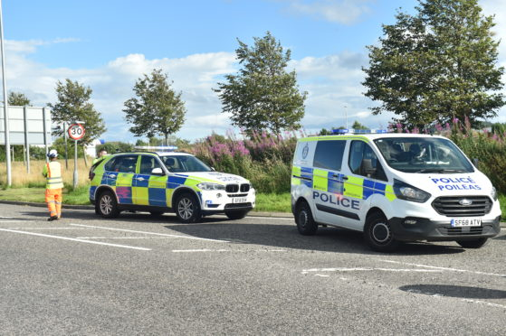 Police attended the incident on the A96