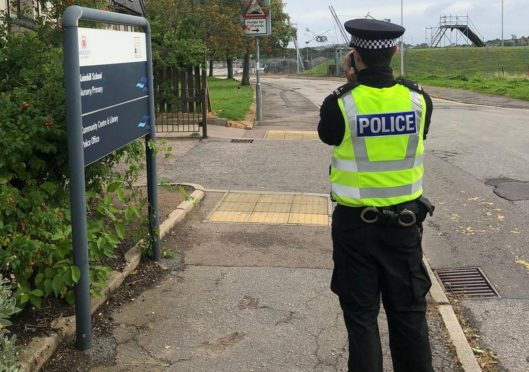 Police carry out speed checks.