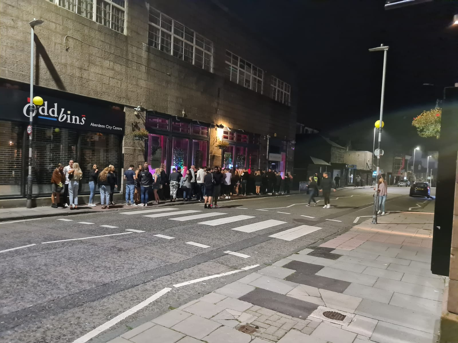 A queue outside Prohibition at the weekend.