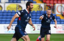 Ross Draper celebrates after netting for Ross County.